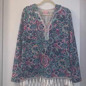 Lilly Pulitzer Hooded Pullover, Size L